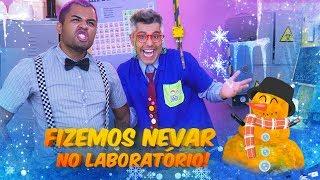 GUERRA DE NEVE! - NEVOU NO LABORATÓRIO MALUCO