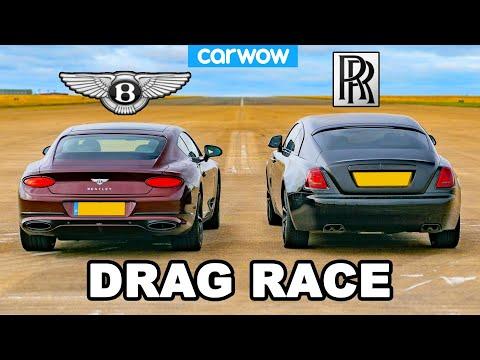 Rolls-Royce Wraith vs Bentley GT: DRAG RACE!