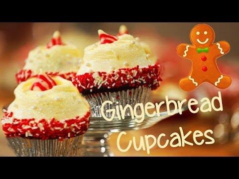 Glamorous Gingerbread Cupcakes | Just Add Sugar