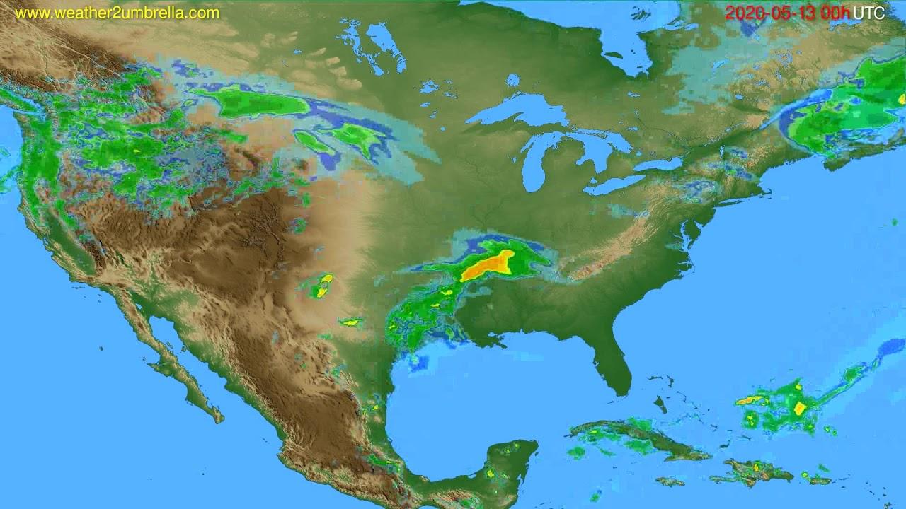 Radar forecast USA & Canada // modelrun: 12h UTC 2020-05-12