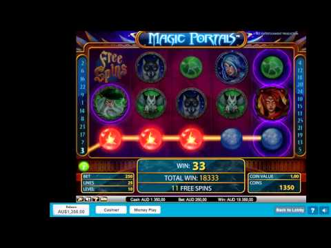 Magic Portals Pokie Machine - Free Spins Betting Max - 4x Retriggers! - Mega Win