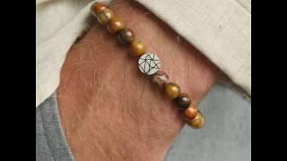 Sem Lewis Piccadilly South Kensinton bead bracelet black/brown (8 mm bead)
