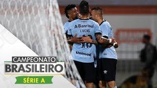 Em duelo para se aproximar do líder Corinthians, o Grêmio impôs a primeira derrota do Flamengo na Ilha do Urubu, com gol de...