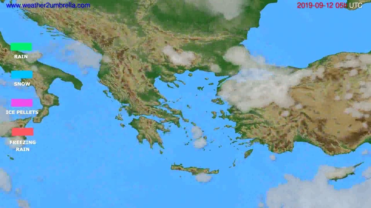 Precipitation forecast Greece // modelrun: 12h UTC 2019-09-09