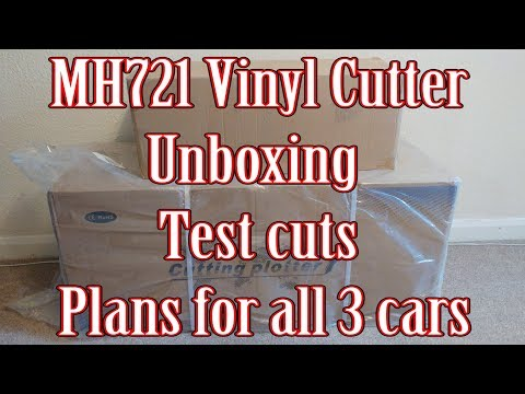 Vinyl Cutter MH721 - Unboxing - Testing and car vinyl plans