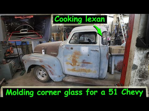 Using lexan to make corner windows for a chopped 51 Chevy pickup