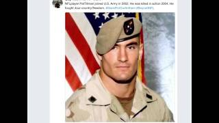 Video After President Donald J  Trump used Pat Tillman's image in a tweet against NFL players MP3, 3GP, MP4, WEBM, AVI, FLV Oktober 2017