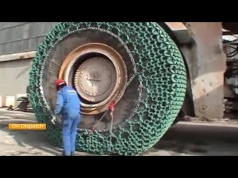 Amazing Biggest Chain Tire Biggest Excavator Super Power