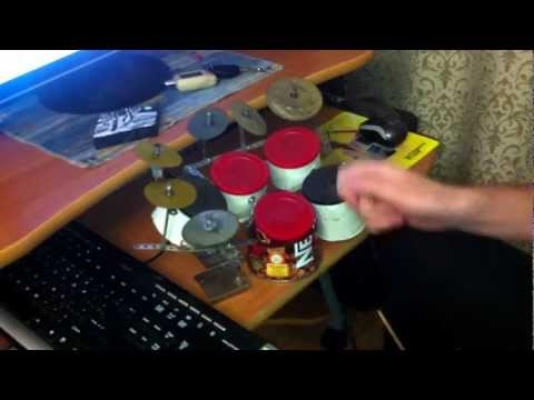 Guy covers Tool with a nescafe can drum set