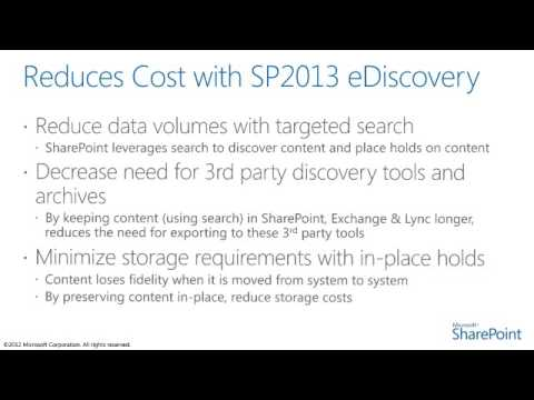 eDiscovery for SharePoint 2013