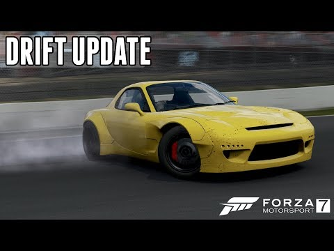 Forza 7 DRIFT UPDATE - New Drift Suspension, Steering Angle, Tuning, & Scoring System!