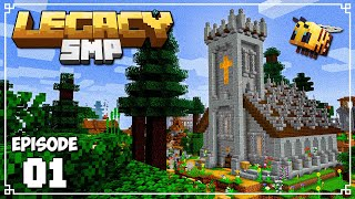 Legacy SMP - Ep. 01 - A CHAPEL FULL OF BEES! (Minecraft 1.15 Survival Multiplayer)