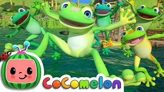 Five Little Speckled Frogs | CoCoMelon Nursery Rhymes & Kids Songs