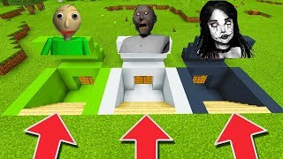 Minecraft PE : DO NOT CHOOSE THE WRONG SECRET BASE! (Creepy, Baldi's Basics & Granny)