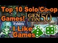 Top 10 Solo/Co-op Games At Gen Con 2017 - I LIKE GAMES