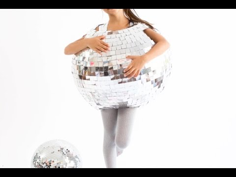 Halloween Human Disco Ball for Kids Costume. DIY Homemade!
