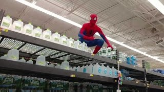 SPIDER MAN KICKED OUT OF WALMART