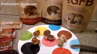 "Buy Coconut Cashew Crunch GFB Bites (4 oz. bag) online: http://shop.theglutenfreebar.com/products/gfb-bites-coconut-cashew-crunch-4-oz-bagcoconut cashew crunch bites ingredients: organic brown rice syrup, toasted cashews, complete protein blend (brown rice protein, pea protein), organic agave nectar, toasted coconut, organic crisped brown rice, organic dates, organic sunflower seeds, golden flaxseed, natural coconut flavor, safflower oil, sea salt.contains cashews.Nutrition Facts:Serving Size: 0.8oz (approx. two ""Bites"")Calories: 110Total Fat: 5gSaturated Fat: 3gSodium: 45mgTotal Carbs: 12gDietary Fiber: 2gSugars: 7gProtein: 4gVisit Antioxidant-fruits.com to see all of our reviews: http://www.antioxidant-fruits.com/category/product-reviewsSubscribe to our newsletter: http://forms.aweber.com/form/44/711727044.htmSign Up for Daily Blog Posts: http://feedburner.google.com/fb/a/mailverify?uri=FruitBlog&loc=en_USJoin Antioxidant-fruits.com on:Facebook: https://www.facebook.com/antioxidantfruits?v=wall&ref=tsTwitter:  https://twitter.com/#!/antioxifruitsPinterest:  http://pinterest.com/antioxifruits/YouTube:  http://www.youtube.com/user/antioxidantfruitsGoogle+: https://plus.google.com/104293428454927091581The Gluten Free Bar GFB Coconut Cashew Crunch Bites Protein Bar Review - Antioxidant-fruits #health #fruit #fruits #antioxidants #antioxidantfruits"
