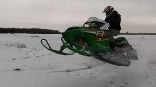 7. Arctic Cat F7 and Indy 500 Rip Jumps and Powder.
