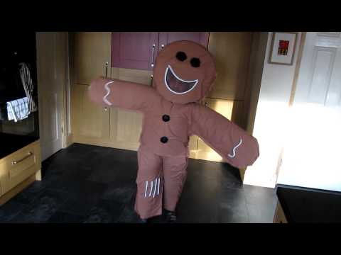 Ethan's Gingerbread Man Costume