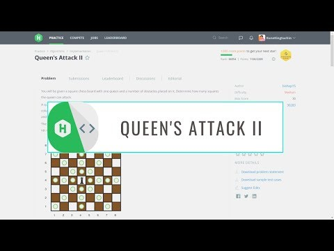 HackerRank Problem Solution || Queen's Attack II || Queen's Attack 2 || Python