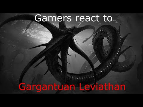 Gamers react to the Gargantuan Leviathan in Subnautica.