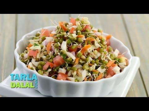 Sprouted Moong Salad (Diabetic Recipe) by Tarla Dalal