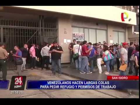Marea.venezolana satura oficina de migraciones en Peru.