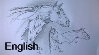 Easy HORSEHEAD drawing for beginners