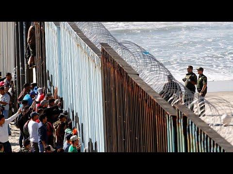 Το «καραβάνι των μεταναστών» έφτασε στην Τιχουάνα