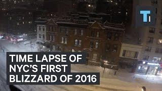 Time lapse of NYC's first blizzard of 2016