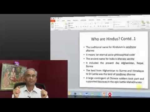 Basic Course on Hinduism - Session 2