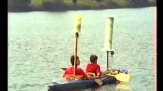 Ein Kajak (Faltboot) wird mit ein und zwei selbstgebauten Flettnerrotoren ausgerüstet. Die Rotoren sind ein Segel- oder...