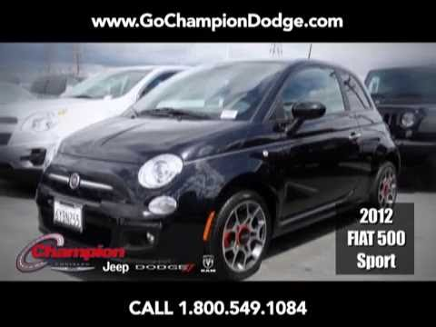 USED 2012 Fiat 500 Sport for Sale - Los Angeles, Cerritos, Downey, Long Beach CA - PREOWNED DEAL