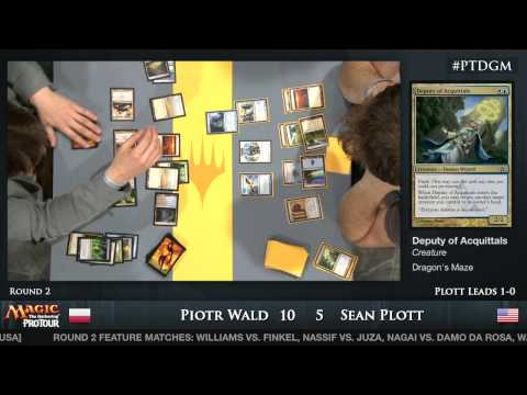 Tour - From Pro Tour Dragon's Maze watch Return to Ravnica block draft match between Piotr Wald and Sean Plott.