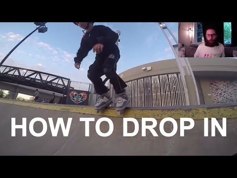 Skatepark Beginner Lessons (How to drop in and more)