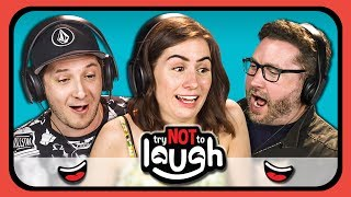 CLICK TO SUBSCRIBE TO THE YOUTUBERS IN THIS EPISODE! https://goo.gl/XLK31zSUBMIT A VIDEO TO TRY TO GET THE REACTORS TO LAUGH: laughchallenge@finebrosent.com Please watch & subscribe to all the creators featured in this episode: https://www.youtube.com/playlist?list=PL73YndQawY3NKJkQwNm3BjnEB1JA-IdQ2SUBSCRIBE THEN HIT THE 🔔! New Videos 12pm PST on REACT! https://goo.gl/7SnCnCWatch more from this series https://goo.gl/Ql6AgN  Watch latest videos from FBE: https://goo.gl/aU5PSm YouTubers try not to smile or laugh! See their reaction in this laugh challenge.Videos featured in this episode: Cute Boy Sleep Jamminhttps://goo.gl/FaJ1aVOMG I'm Dyinghttps://goo.gl/bCoJ2uhttps://goo.gl/ZsDFVdJoaquin Phoenix's Forehead (Rotated): https://goo.gl/f1uZgzOG video unrotated: https://goo.gl/rp2FjmOG rotated version: https://goo.gl/YA5ardHusky Falls Down the Stairs (Titanic Music)https://goo.gl/LfLRdMhttps://goo.gl/Mq9guaKid Gets Hit in the Face with Soccer Ball Throw Inhttps://goo.gl/J14H2DWho Made this Burgerhttps://goo.gl/kLLfFVWin a with bicyclehttps://goo.gl/7b7VvxFBE's goal is to credit the amazing content that gets featured in its shows. If you see incorrect or missing attribution please reach out to credits at finebrosent.comYoutubers featured in this episode:Safiyahttps://youtube.com/safiyanygaardThreadbangerhttps://youtube.com/ThreadBangerPJhttps://youtube.com/KickThePjWengiehttps://youtube.com/wengieMalindahttps://www.youtube.com/user/malineka146Jack & Deanhttps://youtube.com/JACKAndDEANNathan Zedhttps://youtube.com/TheThirdPewBurniehttps://youtube.com/RoosterTeethDodiehttps://youtube.com/doddleoddleJack Douglasshttps://youtube.com/jacksfilmsFollow Fine Brothers Entertainment:FBE WEBSITE: http://www.finebrosent.comFBE CHANNEL: http://www.youtube.com/FBEREACT CHANNEL: http://www.youtube.com/REACTBONUS CHANNEL: https://www.youtube.com/FBE2FACEBOOK: http://www.facebook.com/FineBrosTWITTER: http://www.twitter.com/thefinebrosINSTAGRAM: http://www.instagram.com/fbeSNAPCHAT: https://www.snapchat.com/add/finebrosTUMBLR: http://fbeofficial.tumblr.com/SOUNDCLOUD: https://soundcloud.com/fbepodcastiTUNES (Podcast): https://goo.gl/DSdGFTMUSICAL.LY: @fbeLIVE.LY: @fbeSEND US STUFF:FBEP.O. BOX 4324Valley Village, CA 91617-4324Executive Produced by Benny Fine & Rafi FineHead of Post Production - Nick BergtholdDirector of Production - Drew RoderProduced by Vincent IeraciAssociate Producer -  Alyssa Carter & Derek Wells & Katie Harper &Zach CieszynskiProduction Coordinator - Cynthia GarciaAssistant Production Coordinator - James RoderiqueProduction Assistant - Kristy Kiefer & Kenira Moore & Locke Alexander& Josecarlos ChavezEditor - Chris HaynesAssistant Editor - Austin Miller & Isabel YanesPost Supervisor - Adam SpeasPost Coordinator - David ValbuenaSet Design - Melissa JudsonGraphics & Animation - Will HylerTheme Music - Cyrus Ghahremani© Fine Brothers Entertainment.Try To Watch This Without Laughing or Grinning #5 ft. YouTubers REACT