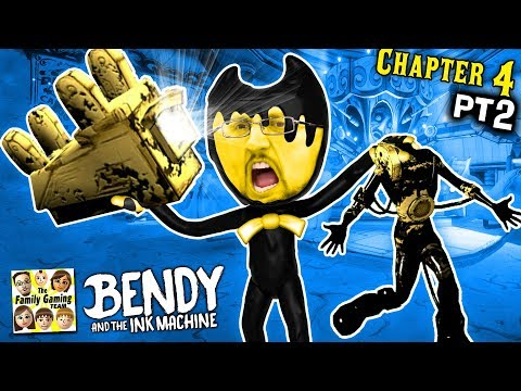 OUCH! BENDY & THE INK MACHINE CARNIVAL NIGTHMARE!  MOST INTENSE EPISODE! (FGTEEV Chapter 4 #2) (видео)