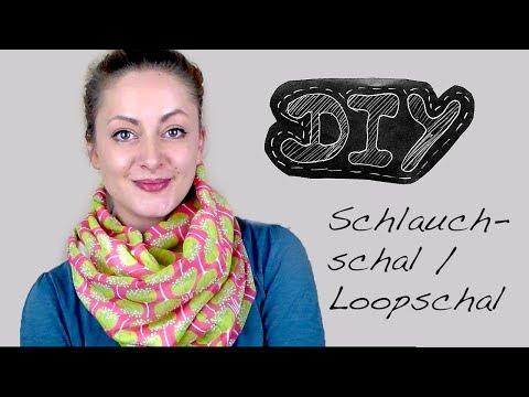 Nähanleitung Schlauchschal nähen Loopschal Wendeschal Rundschal Loop Schal Anleitung kostenlos