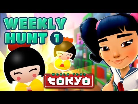 Subway Surfers Weekly Hunt - Collecting Hunt Tokens in Tokyo (Week 1) (видео)