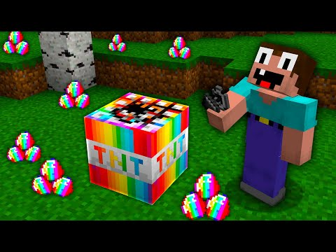 Minecraft NOOB vs PRO vs HACKER: ONLY NOOB CAN ACTIVATE THIS RAREST RAINBOW TNT! Challenge