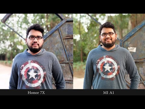 Honor 7X vs Mi A1 Camera Comparison | Portrait Shots | Portrait Selfies | Video