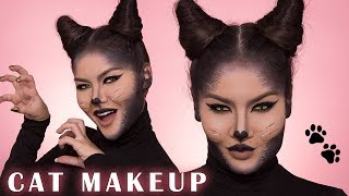 CAT MAKEUP HALLOWEEN TUTORIAL   Maryam Maquillage