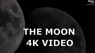 4K Video: Our moon - astronomy video with 10 inch dobsonian telescope / Panasonic GX8