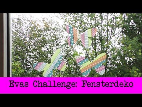 DIY Inspiration Challenge #22 Fensterdeko   Evas Challenge   Tutorial - Do it yourself