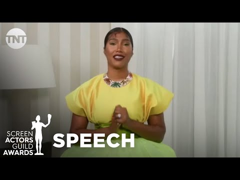 Chadwick Boseman: Award Acceptance Speech   27 Annual SAG Awards   TNT