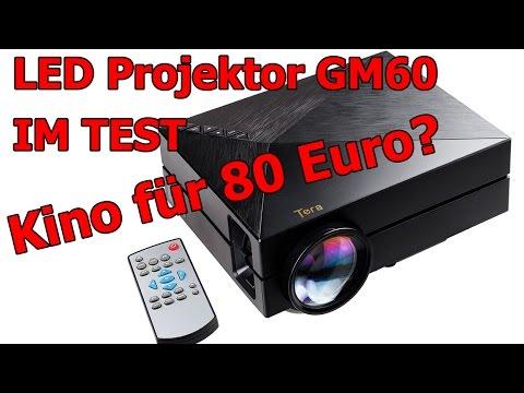 GM60 LED Projektor / Beamer - unboxing test review / Deutsch