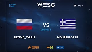 Ultima_Thule против Mousesports, Вторая карта, WESG 2017 Dota 2 European Qualifier Finals