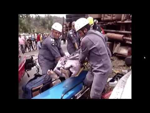 Grave acidente caminhão em Divinésia Mg