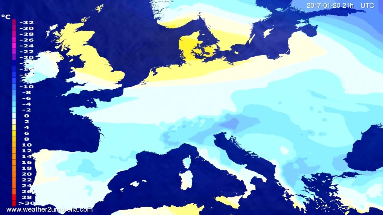 Temperature forecast Europe 2017-01-17